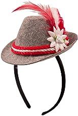 Folat Bayerischer Mini-Hut O' zapft is mit Haarreif 10 cm