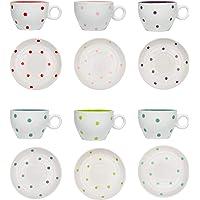 Duline Dots Service de Table Blanc
