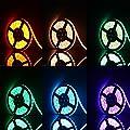 TOPLUS 5M LED Streifen mit 300 LEDs 5050 SMD RGB LED Lichterkette Beleuchtungsset einschließlich IR Kabelloser Steuerung Empfänger Netzteil und EU Stromkabel