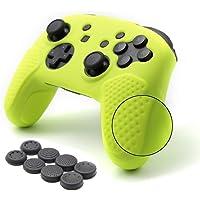 CHIN FAI per Nintendo Switch PRO Controller Case, Custodia Protettiva in Silicone Antiscivolo con 8pcs Thumbsticks Grip…