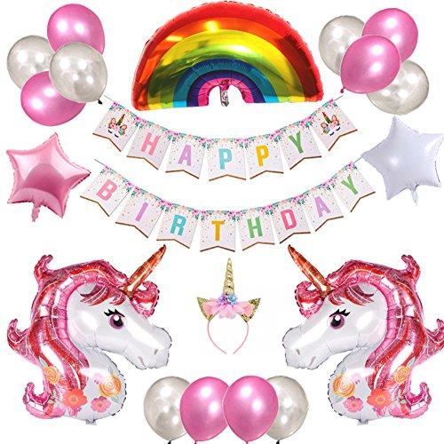 Weimi Happy Birthday Luftballons Deko Kinder Deko Geburtstag Banner Ballons Dekoration