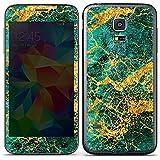 Samsung Galaxy S5 mini Case Skin Sticker aus Vinyl-Folie Aufkleber Smaragd Struktur Marmor Muster