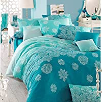 Eponj Home King Quilt Cover Set - Duvet Cover: 240 x 220 cm Pillowcase: 50 x 80 cm (2 Pieces)