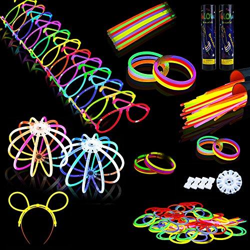 Leuchtstab, Funpa 200 Stücke Licht Stick Armbänder Mischfarbe Party Favors Set mit 6 Stunden Dauer