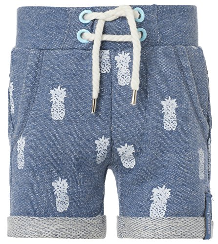 Noppies Baby - Jungen Short B sweat Tom aop, Gr. 62, Blau (Blue Melange C147)