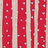 Dunkelrosa Wachstuch mit Streifen von echino