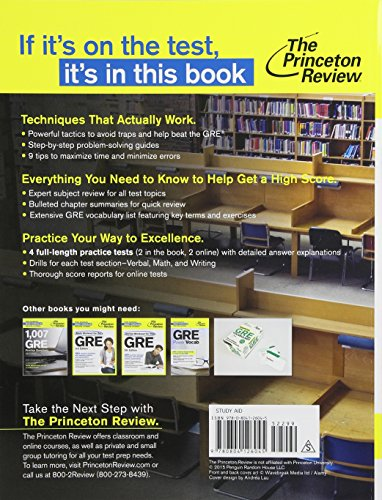 Cracking The GRE. 2016 (Princetown Review)