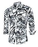 Herren Art-langärmliges Blumen Hemd Shirt