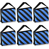 Neewer® - Pack con 6 Bolsas de Arena de Color Negro/Azul para trípodes de Soporte de luz - Ideal para Estudios de fotografía o de filmación