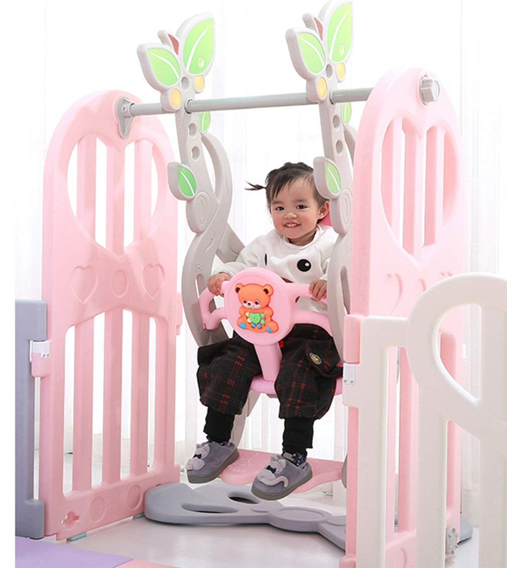 KAPR Children's Fence Indoor Small Amusement Park Baby Safety Creep Pad Walk-in Guardrail Sturdy - Made From Non-toxic Materials KAPR Silicone anti-slip and fixed snappush push is not to test the quality of the dimension of the fence Our fence in the push resistance to make even adults are not easy to push Interface square snap design Precision card position more stable each piece of fence up and down snap fixed can be assembled solid and not easy to push down Smooth surface no burrs no hurt hand artificial and mechanical double polishing trim to care for the baby's tender skin 5