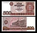 *** 2 Stück 500 DDR Mark Mark Geldscheine 1985 Alte Währung - Reproduktion ***