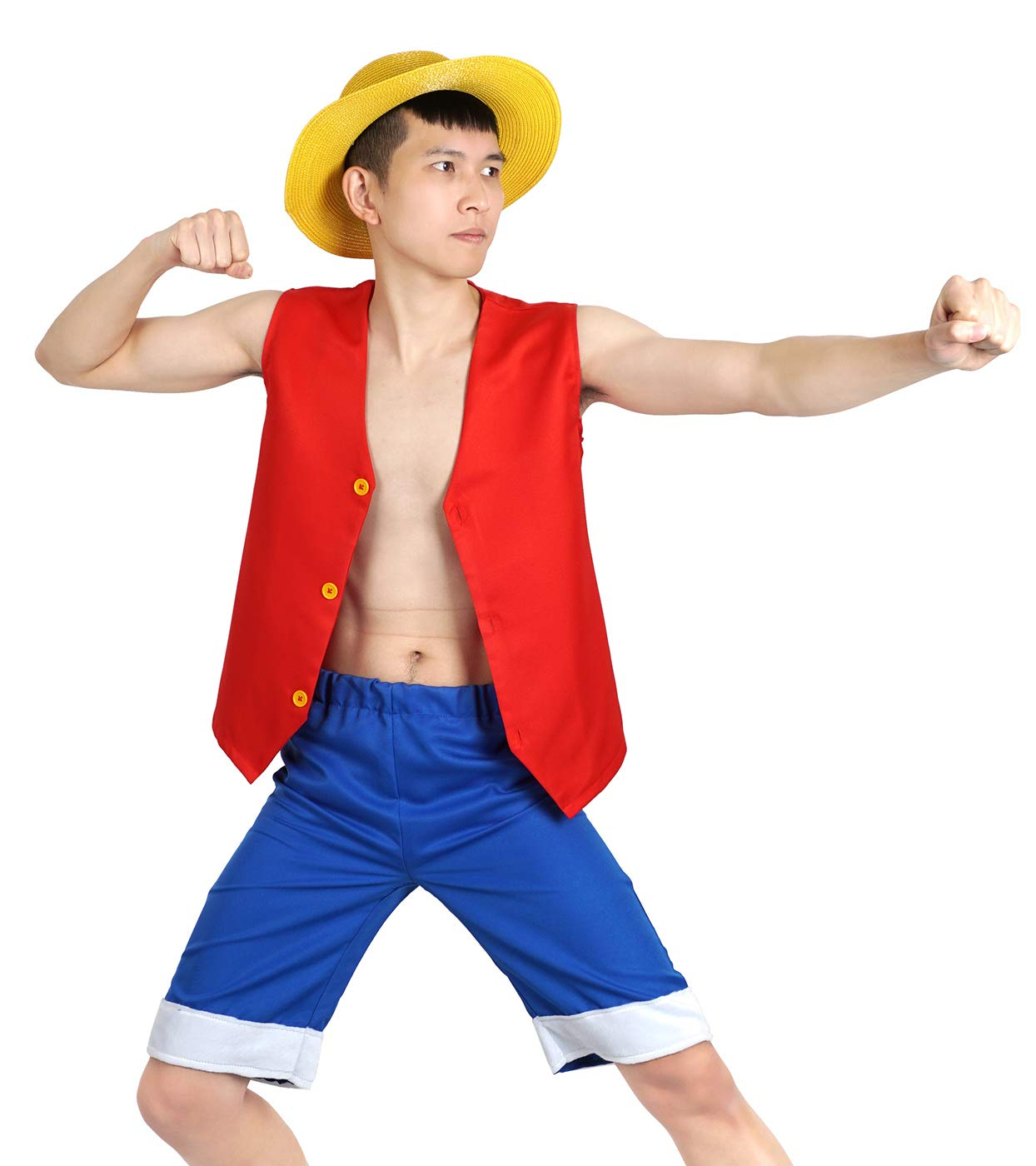 One Piece Monkey D. Luffy mit WesteKurze Hosen: Amazon