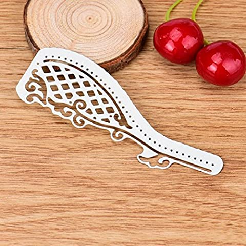 Transer® Metal Cutting Dies- Feather/ Leaves/ Butterfly/ Train/ Lace/ Musical Note Stencil- DIY Scrapbooking Embossing Album Paper Card Craft Die Tool (C ( 3.7*10cm))
