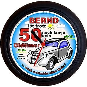 Lucky Clocks NOCH LANGE KEIN OLDTIMER originelle Wanduhr für jeden Anlass mit jeder Beschriftung und jedem Vornamen Namen erhältlich auch ganz neutral