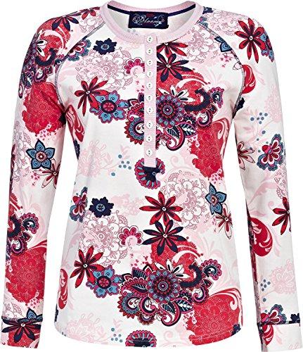 Bloomy Langarmshirt Single-Jersey Creme Größe 44