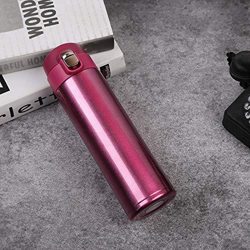 LGGLQW Edelstahl-Isolations-Schalen-einfache Sprungs-Schalen-tragbare Wasser-Flasche im Freien -