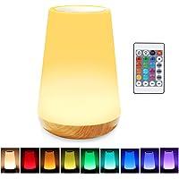 Lampe de chevet tactile avec capteur tactile de 13 couleurs changeantes - Port de charge USB - 5 niveaux d'intensité…
