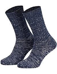 Tobeni 5 paires de chaussettes en coton 100 Original Jeans pour les hommes et les femmes en 3 couleurs
