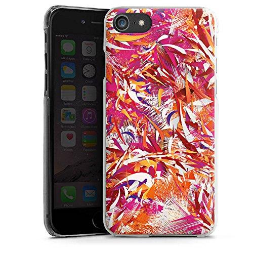 Apple iPhone X Silikon Hülle Case Schutzhülle Farben Muster Chaos Hard Case transparent