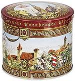 Wicklein Burg-Dose, gefüllt mit feinsten Nürnberger Elisen Lebkuchen, 3er Pack (3 x 200 g)