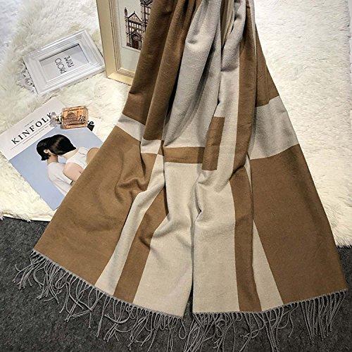 SZKP Schals Herbst und Winter Quaste warme Schal Frauen Zauber Imitation Kaschmirschal für Frauen und Mädchen -