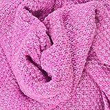 Kihappy Meerjungfrauenflossen-Decke für Erwachsene, gehäkelt/gestrickt, baumwolle, rose, 71 x 35.5 Inch