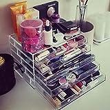 Homdox Acryl Kosmetikorganizer Transparent Make-up Kosmetik Schmuck Organizer Kosmetikschrank...