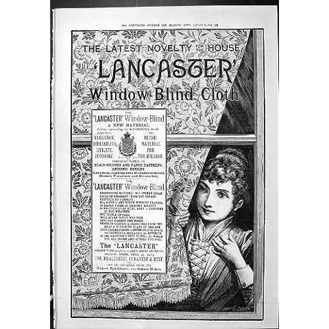 Stampa Antica di Sport della Finestra Drammatica 1887 di Lancaster della Pubblicità di Notizie B…