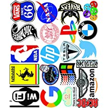 Elton 3M Vinyl Sticker Pack [20-Pcs] Plus Free Bonus Stickers Lovely 3M Vinyl Logo & Assorted - 2 Stickers For Laptop, Cars, Motorcycle, PS4. X Box One . Guitar Bicycle, Skateboard, Luggage - Waterproof Random Sticker Pack