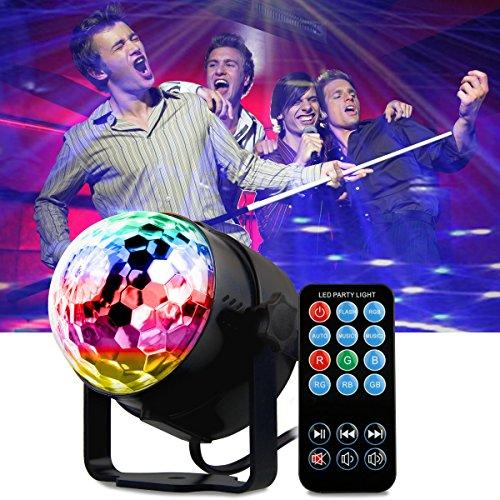 Luci da discoteca, mopalwin luci da palco con telecomando rgb effetto per ktv, discoteca, festa, natale, bar, ecc