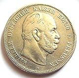 orig. 5 Mark Silbermünze 1874 A ss+/vz - Münze Preußen Kaiser Wilhem I Jäger Nr.97