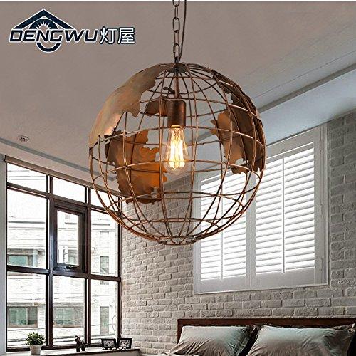 Hauptbeleuchtung Vintage industrielle Kronleuchter Esszimmer Schlafzimmer Balkon Flur der dem Wind Arts Bar kreative Persönlichkeit Kugel Kronleuchter mit einem Durchmesser von 300/400/500 mm, DW-D 0755-30 - schwarz (Dw Kostüm)