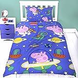 Peppa Wutz Kinder Bettwäsche Peppa Pig Mikrofaser 2-teilige Garnitur für Kinderbett Bettbezug und Kissenbezug