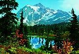 Fototapete Gebirge und Bergsee mit Wäldern - Größe 366 x 254 cm, 8-teilig