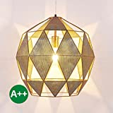 Ceiling Light Janina dimmable (modern) in Gold made of Metal (1 light, E27, A++) from Lampenwelt | pendant lighting, lamp, hanging lamp, lamp, ceiling lamp, hanging light