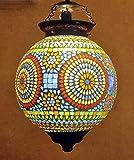 #8: HND00491 Lalhaveli Indian Ethnic Designer Multicolored Hanging Lamp