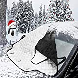 Picture Of MATCC Windscreen Cover Windscreen Frost Protector Magnetic Car Windshield Cover Snow Cover Dust Sun Shade Protector with Two Anti-theft Ears in All Weather