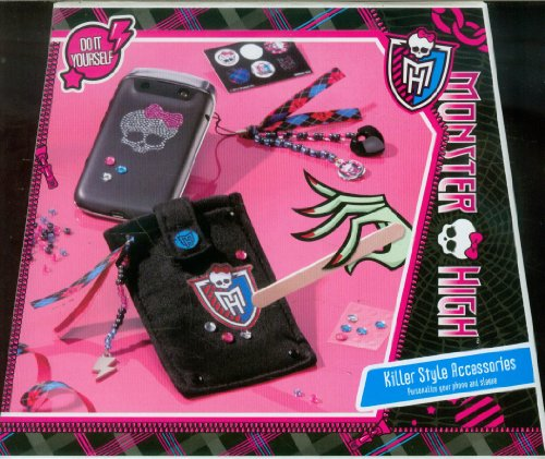 Totum Monster High Bastel-Set für Handys, Smartphones und Ipod, für individuelle Handy-Hüllen und Accessoires zum Verzieren, Geschenk für Mädchen
