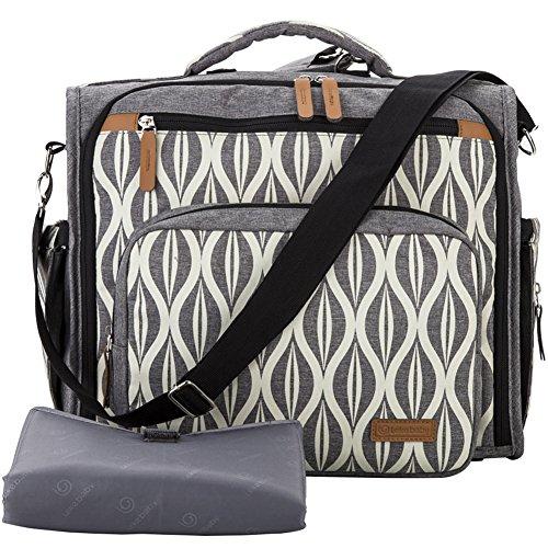 Preisvergleich Produktbild Lekebaby Wickelrucksäcke Tasche Kann Werden Verwendet als Tote Rucksack und Baby Wickelumhängetaschen, Grau