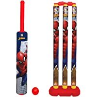 MANAKI ENTERPRISE Cricket Kit Set for Kids 3 Stumps with 1 Bat and 1 Ball for Playing Perfect Cricket Combo Set…
