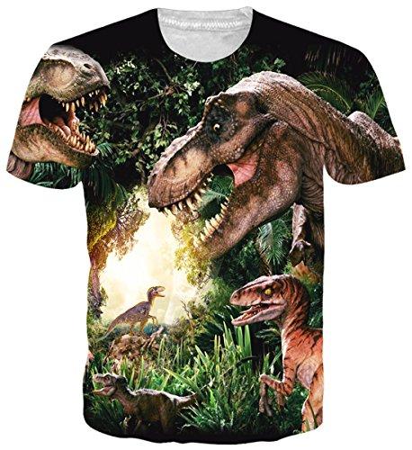 uideazone Männer ' Cool t-Shirts kurze Ärmel Rundhalsausschnitt Neuheit Dinsouar T-Shirt Graphic Tee (Grünes T-shirt Verstehen,)