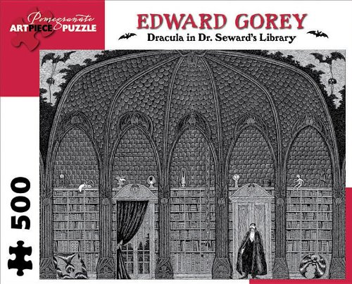 Dracula in Dr. Seward's Library 500-Piece Jigsaw Puzzle (Pomegranate Artpiece Puzzle)