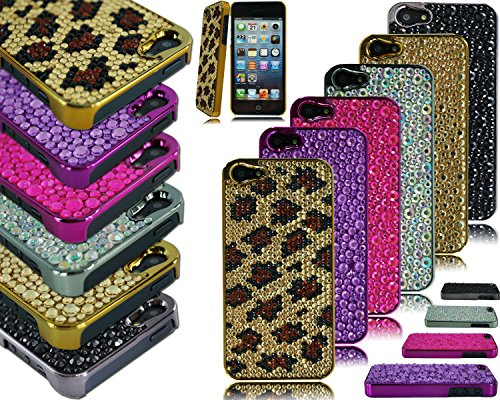 neuen, stilvollen Chrom Seite Bling Back Case Schutzhülle für Apple I Phone 6Plus 5,5 violett