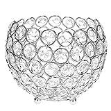Kristall-Kerzenhalter, runde Laterne Säule, Teelichthalter, mit Kerzen-Halter, Metall, für die windowsills candlestands Tische, Herzstücke, als Geschenk, Hochzeit Jahrestag,, metall, silber, 15 cm