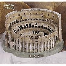 Souvenir Italia Roma Coliseo 3d de resina l.19,5cm H. 9,5cm