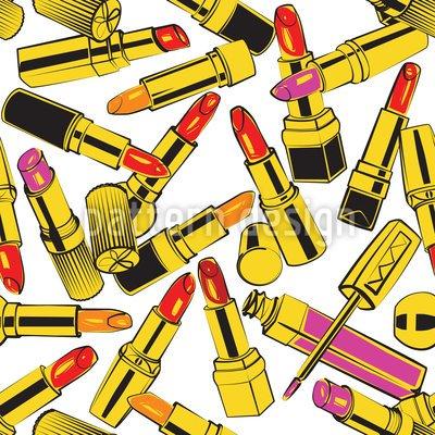Leinwand-Bild 60 x 40 cm: 'Lippenstift Obsession', Bild auf Leinwand (gekachelt)