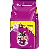 Whiskas - Croquettes pour chatons - Junior de 2 à 12 Mois - Lot de 6