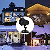 LED Snow Christmas Projector Light, TryLight Christmas Projector Light for Garden Decoration, Waterproof IP 65 White Snow Projector Lights LED Outdoor Lights for Garden, Party, Christmas Decoration