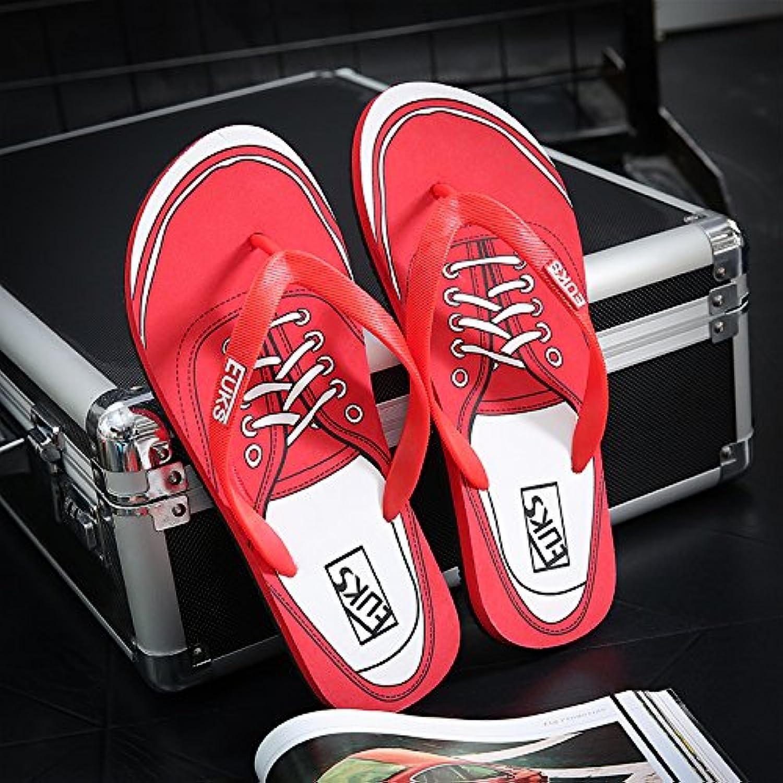 Stilvolle, um Felder im Sommer und eine rutschfeste Hausschuhe Strand coole Hausschuhe's Casual Shoes 39 Rot