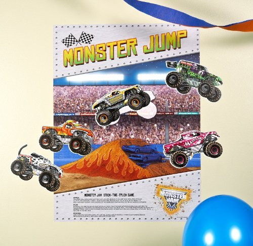 Monster Jam Party Supplies - Stick the X Game by BirthdayExpress (Party Supplies Monster Jam)
